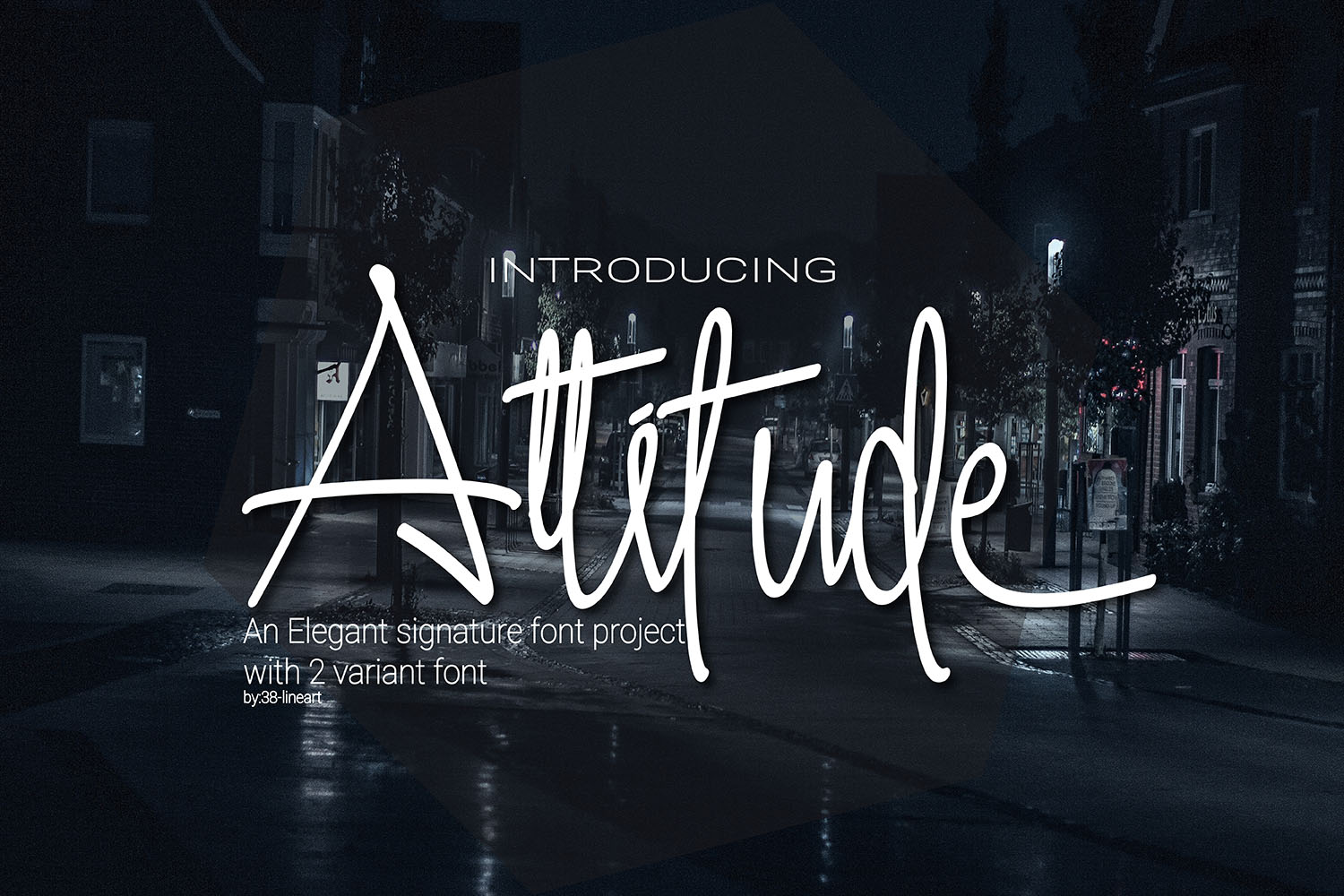 Print on Demand: Attitude Script & Handwritten Font By 38.lineart