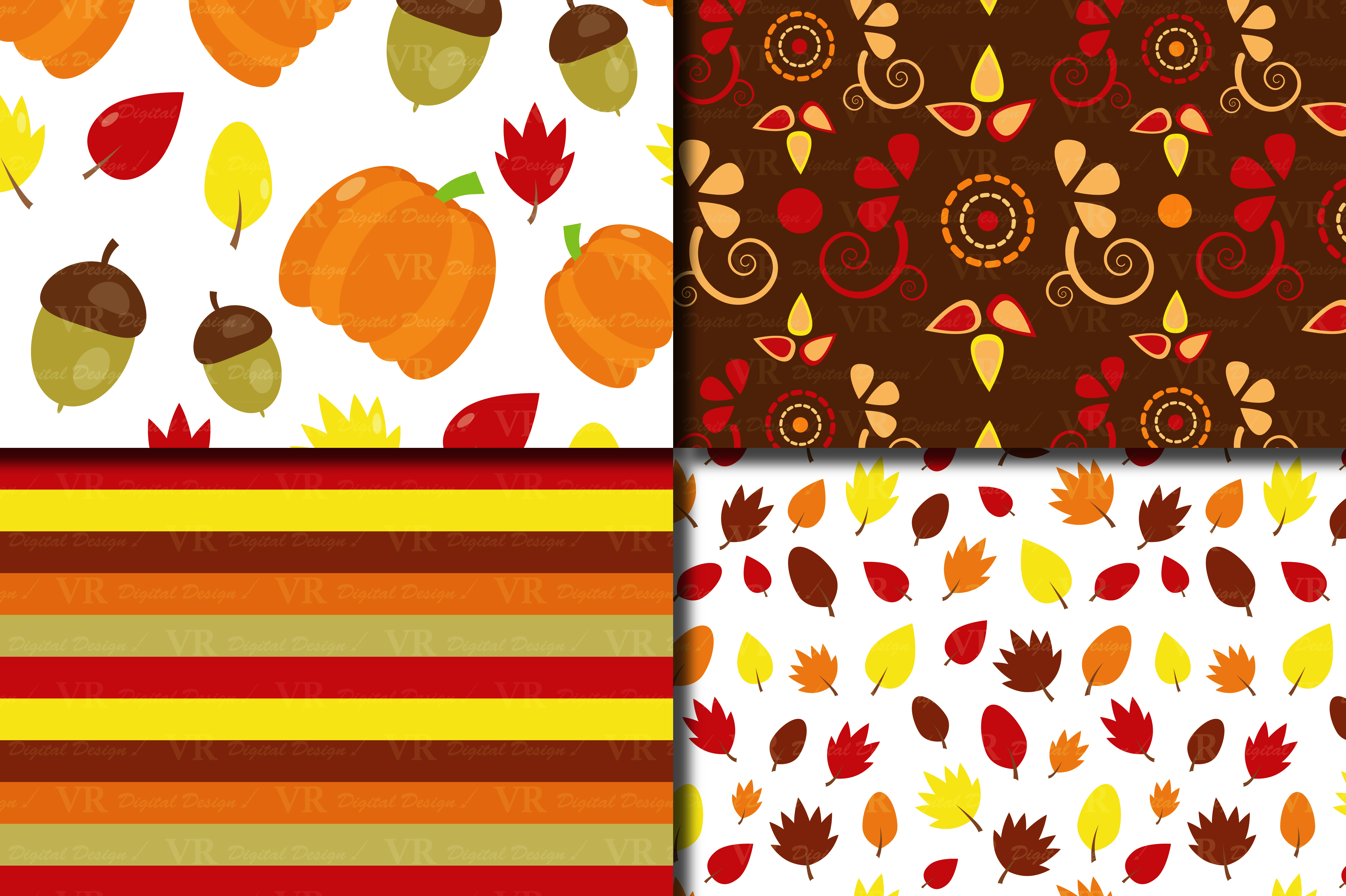 Download Free Autumn Digital Paper Fall Backgrounds With Pumpkin Acorn And for Cricut Explore, Silhouette and other cutting machines.