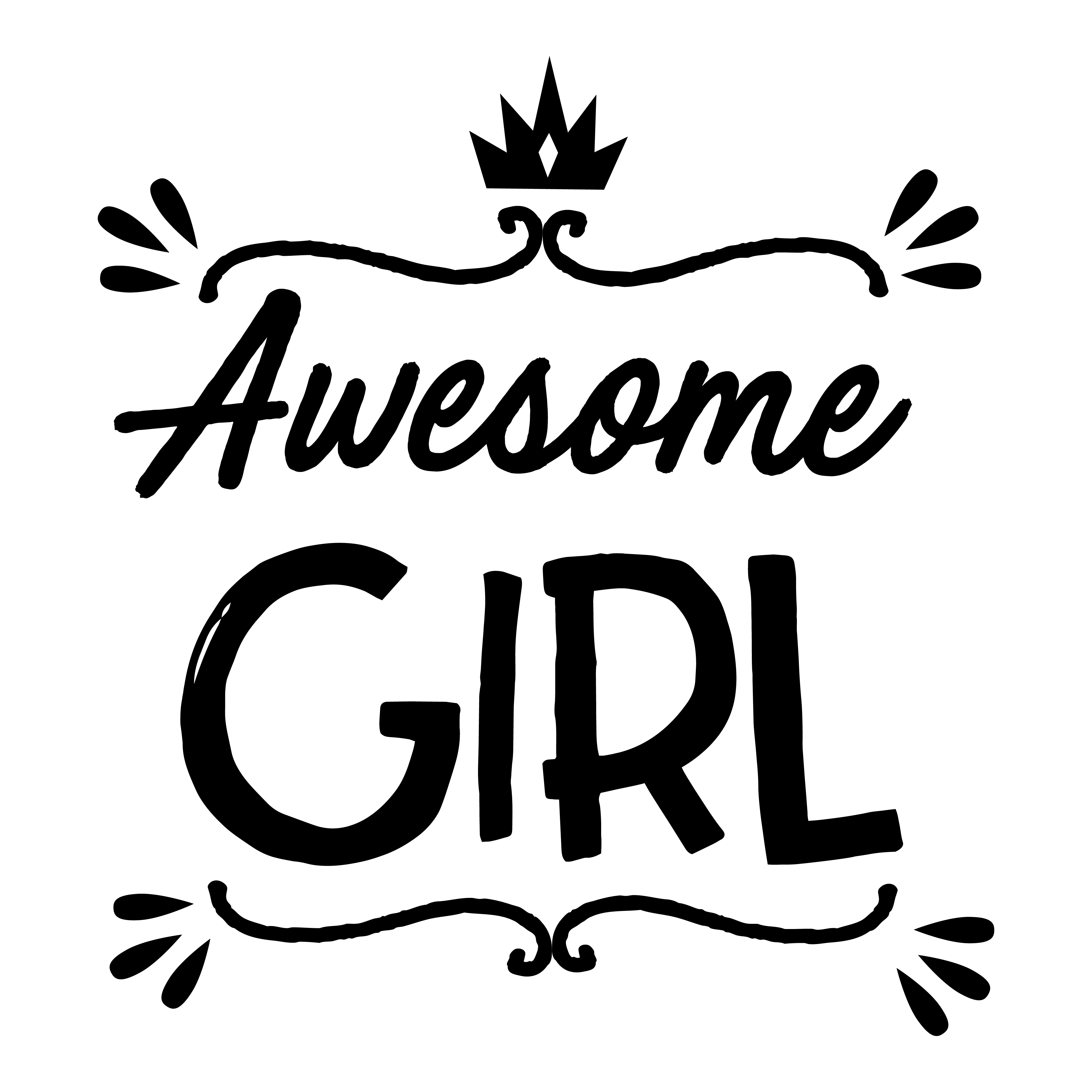 Print on Demand: Awesome Girl Design Graphic Crafts By davidrockdesign