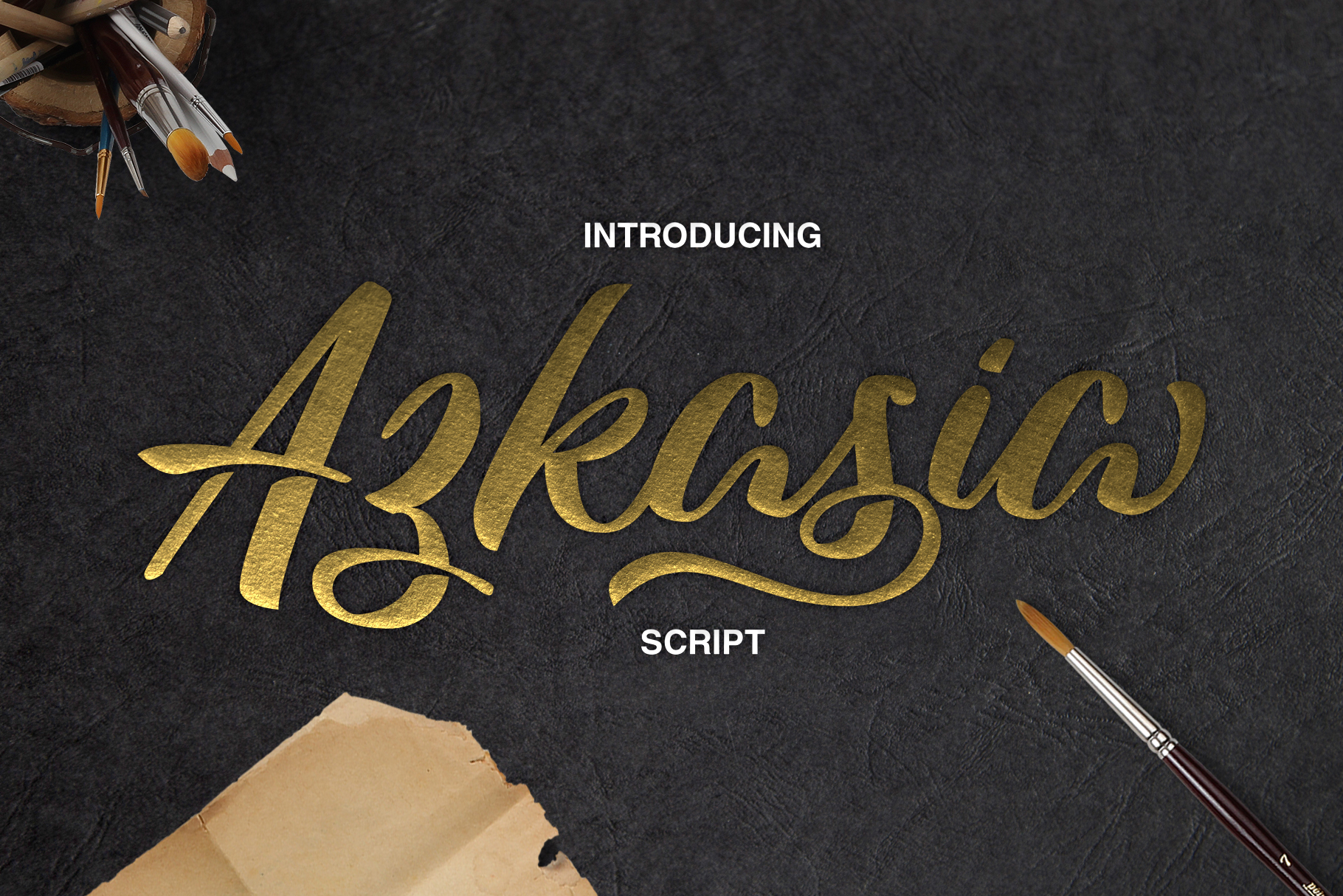 Print on Demand: Azkasia Script & Handwritten Font By semuthitam