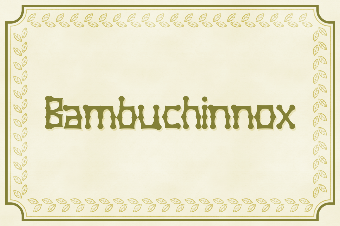 Bambuchinnox Decorative Font By viper78