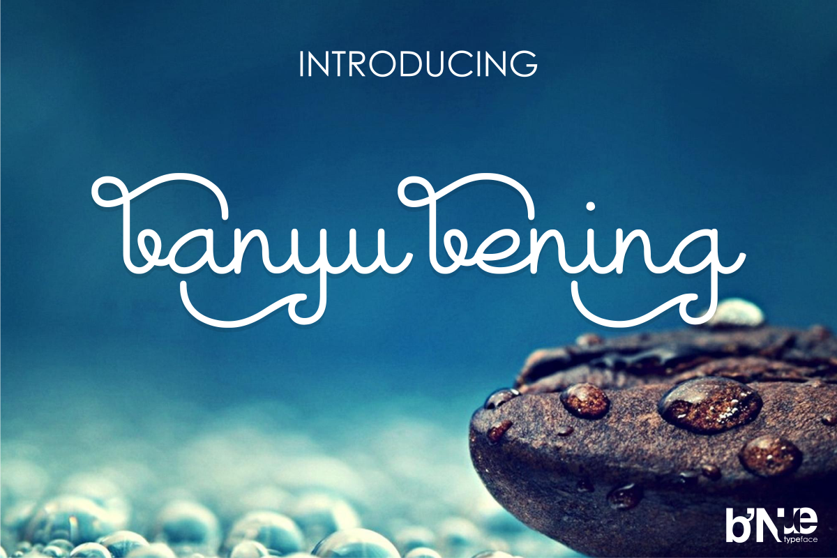 Print on Demand: Banyu Bening Display Font By initiatype