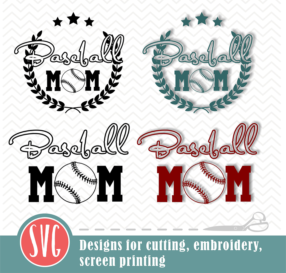 Download Free Baseball Mom 2 Designs Cutting File Graphic By Vector City for Cricut Explore, Silhouette and other cutting machines.