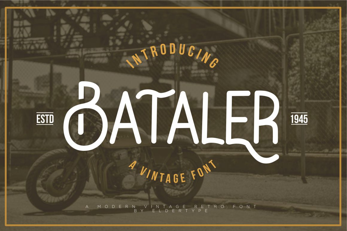 Print on Demand: Bataler Display Fuente Por Eldertype Studio