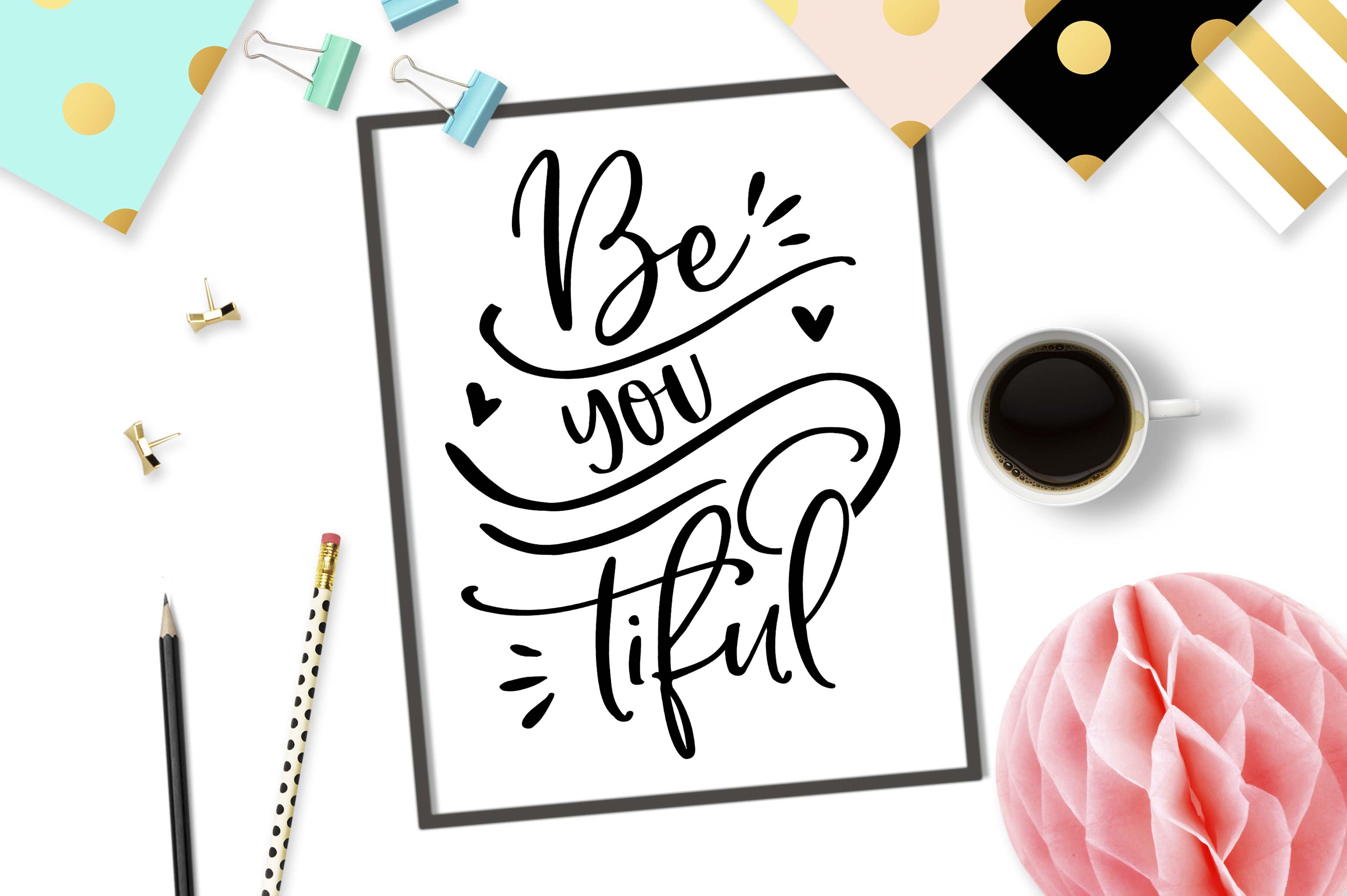 Be You Tiful SVG DXF PNG EPS Graphic Crafts By TheBlackCatPrints