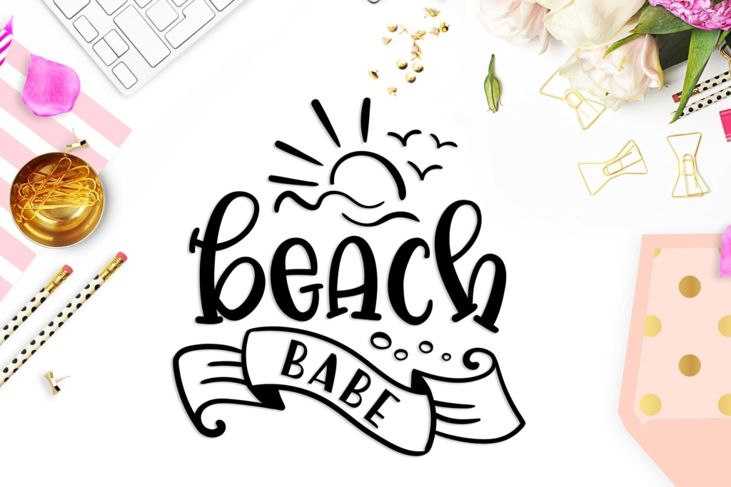Download Free Beach Babe Grafico Por Theblackcatprints Creative Fabrica for Cricut Explore, Silhouette and other cutting machines.