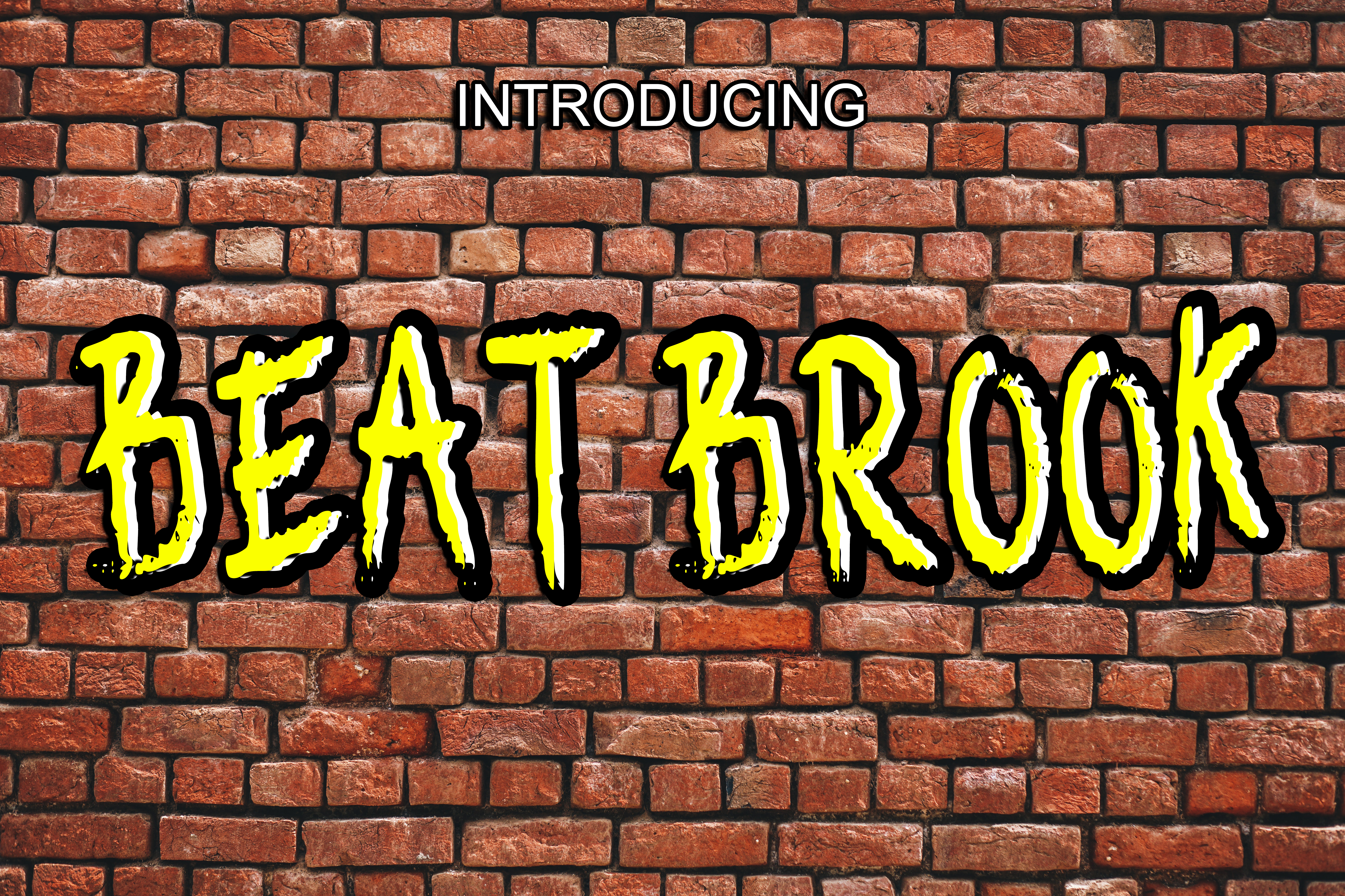 Beat Brook Display Font By Boombage