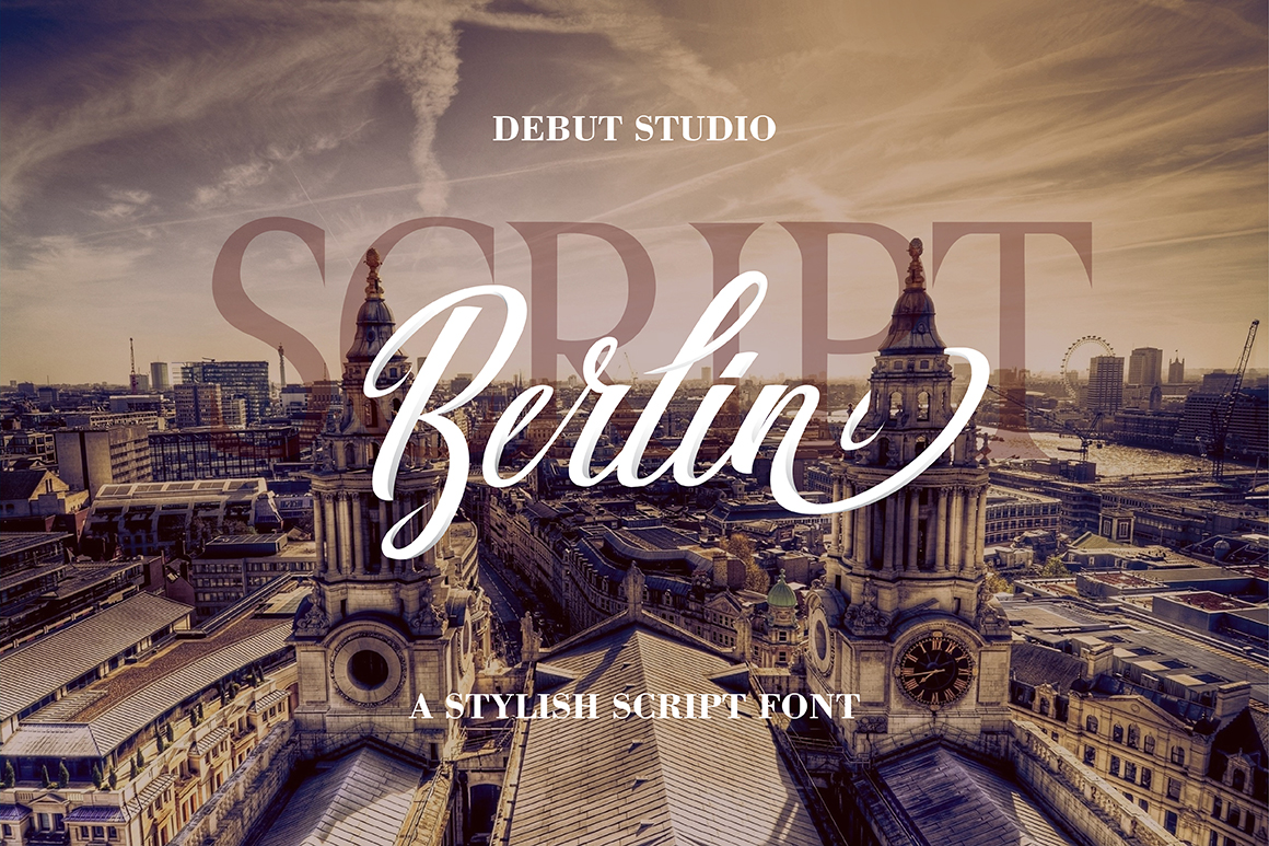 Print on Demand: Berlin Script Script & Handwritten Font By Debut Studio - Image 1