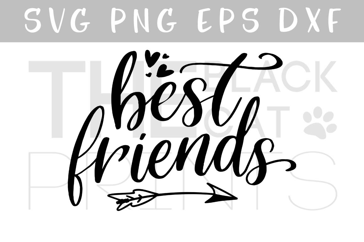 Download Free Best Friends Grafico Por Theblackcatprints Creative Fabrica SVG Cut Files