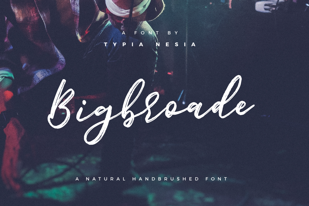 Print on Demand: Bigbroade Script & Handwritten Font By Typia Nesia