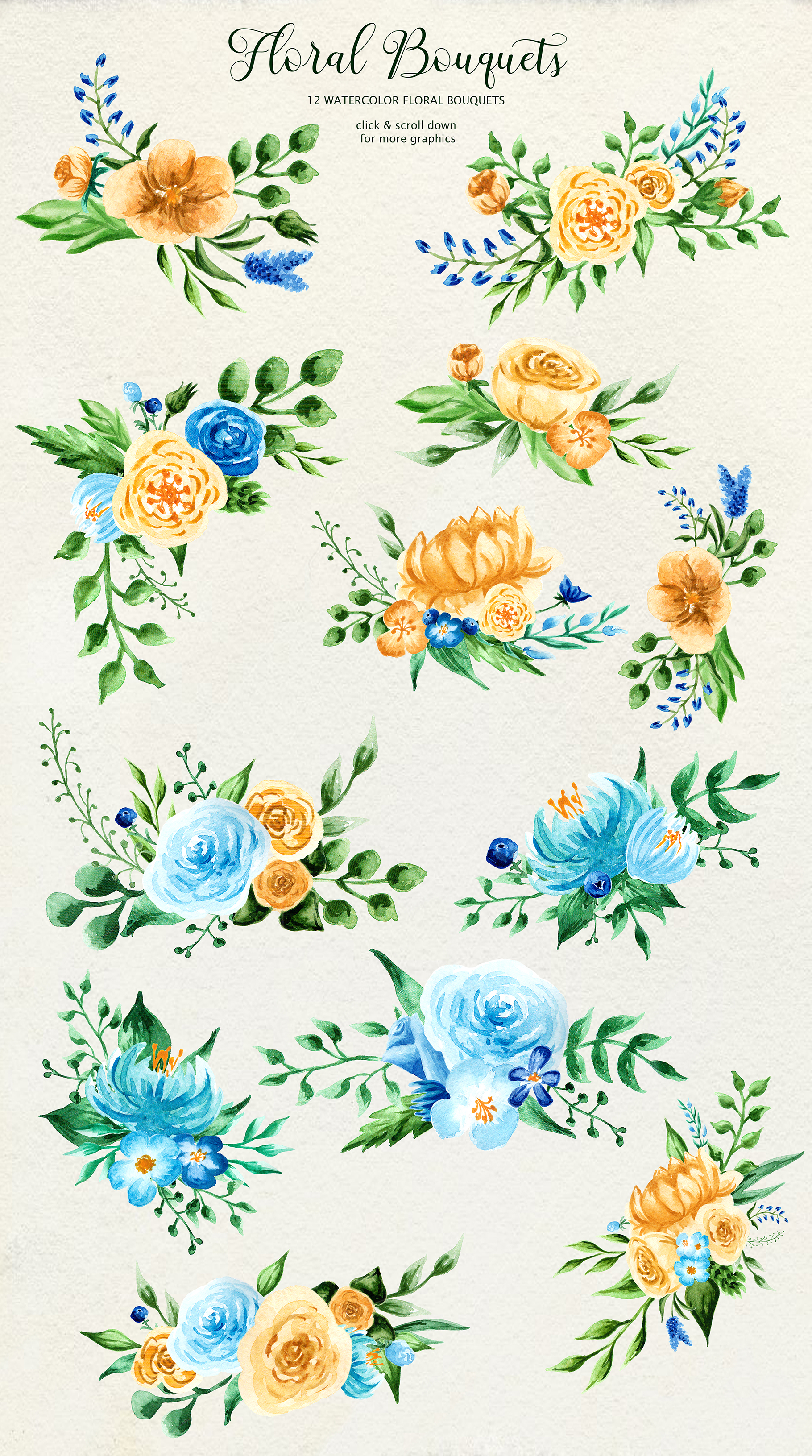 Birth of Watercolor Flower Set Graphic By tregubova.jul Image 3