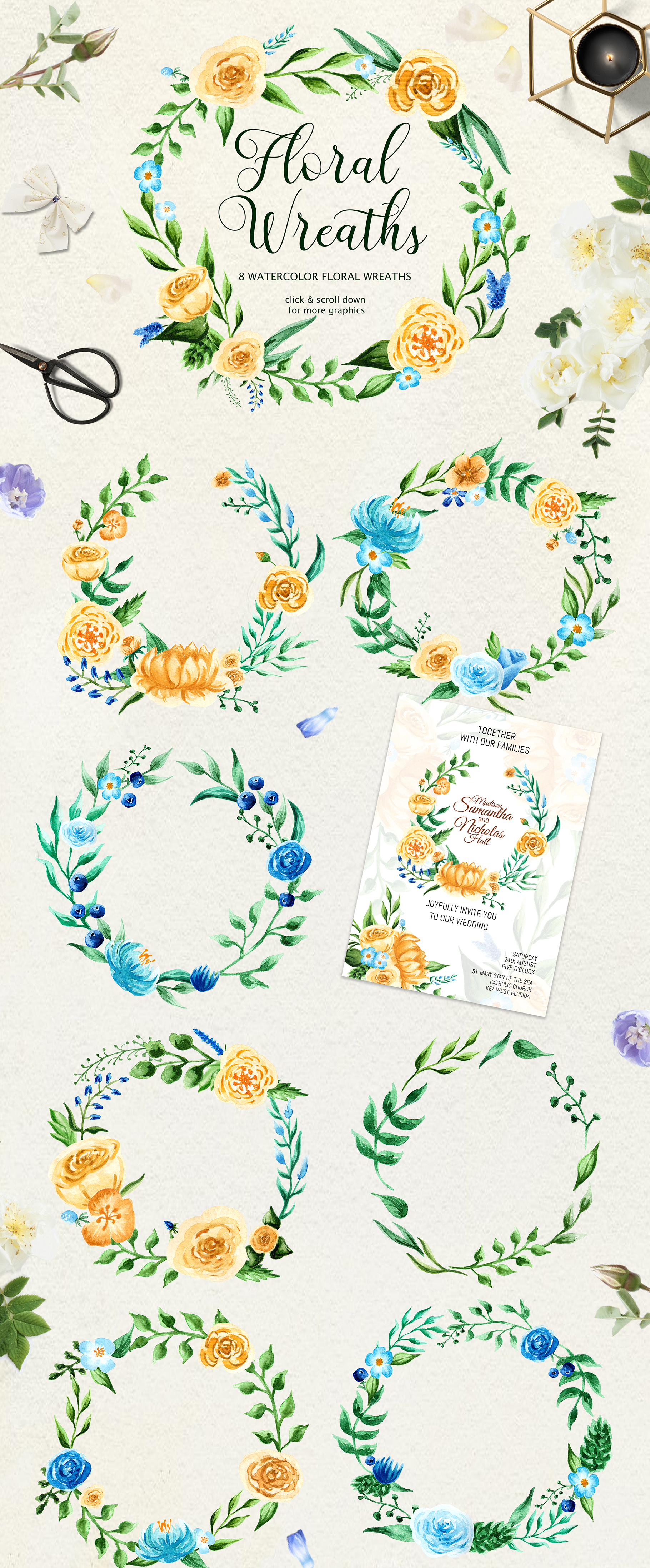 Birth of Watercolor Flower Set Graphic By tregubova.jul Image 4