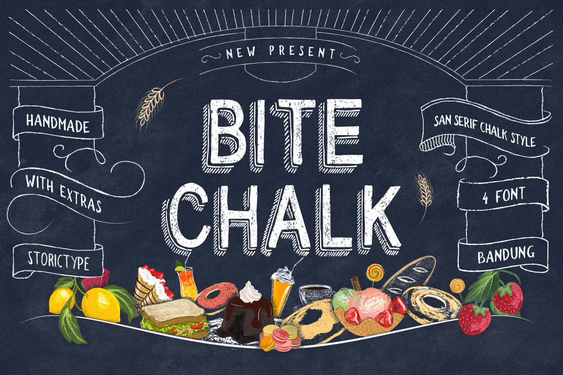Print on Demand: BiteChalk Display Schriftarten von storictype