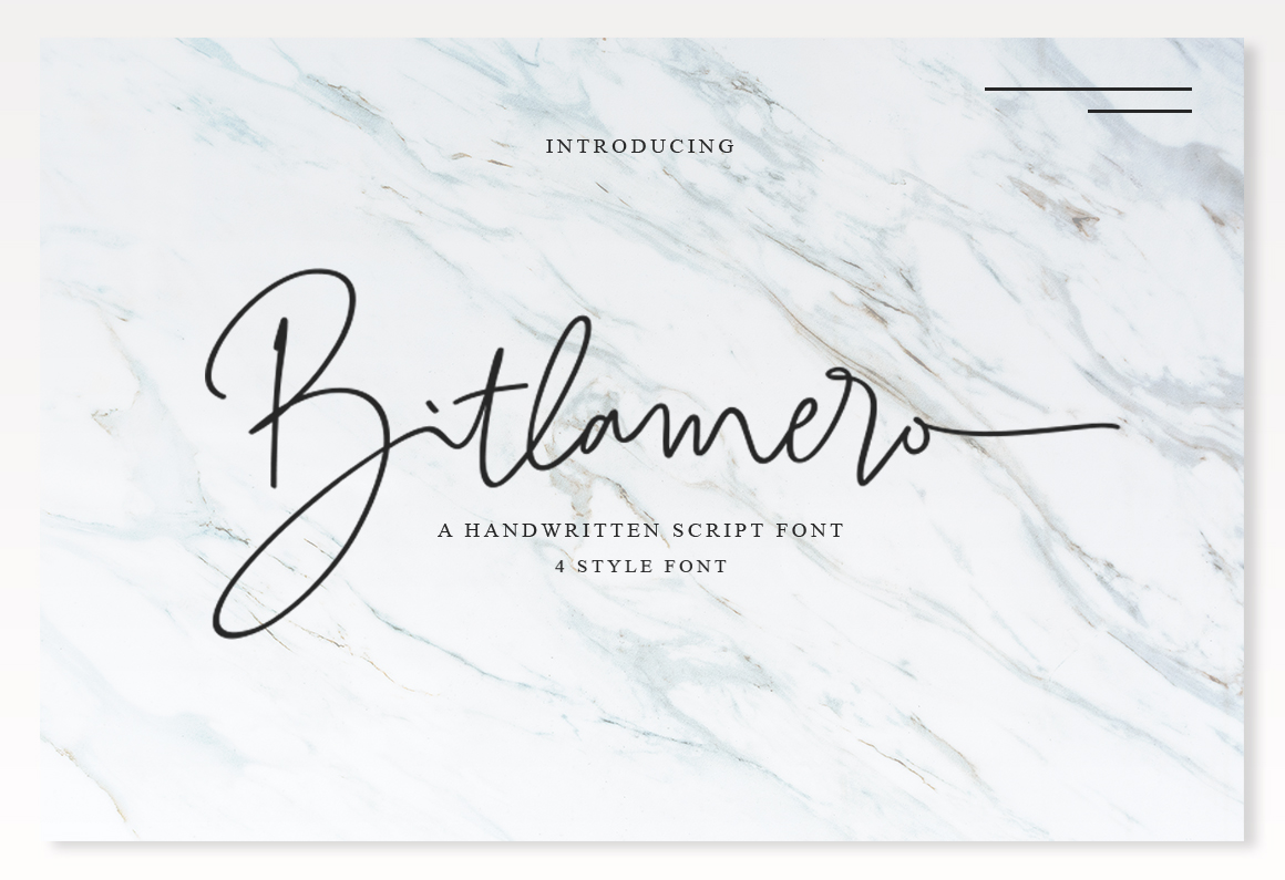 Print on Demand: Bitlamero Script Script & Handwritten Font By Ijem RockArt
