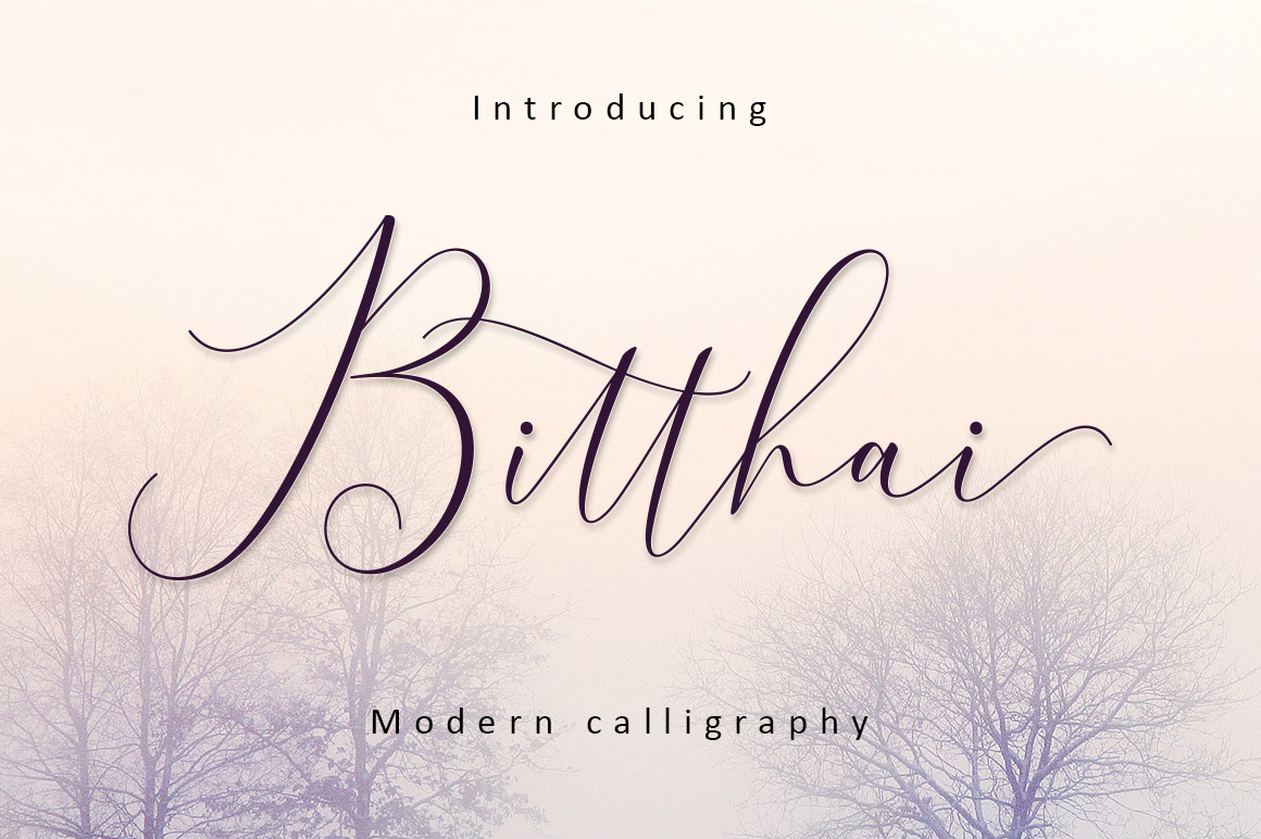 Print on Demand: Bitthai Script & Handwritten Font By Amarlettering