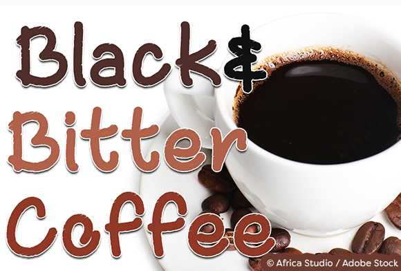 Black and Bitter Coffee Font By Misti Image 1