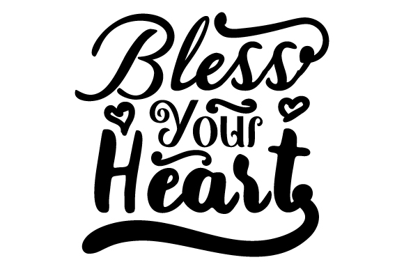 Download Free Bless Your Heart Svg Cut File By Creative Fabrica Crafts for Cricut Explore, Silhouette and other cutting machines.