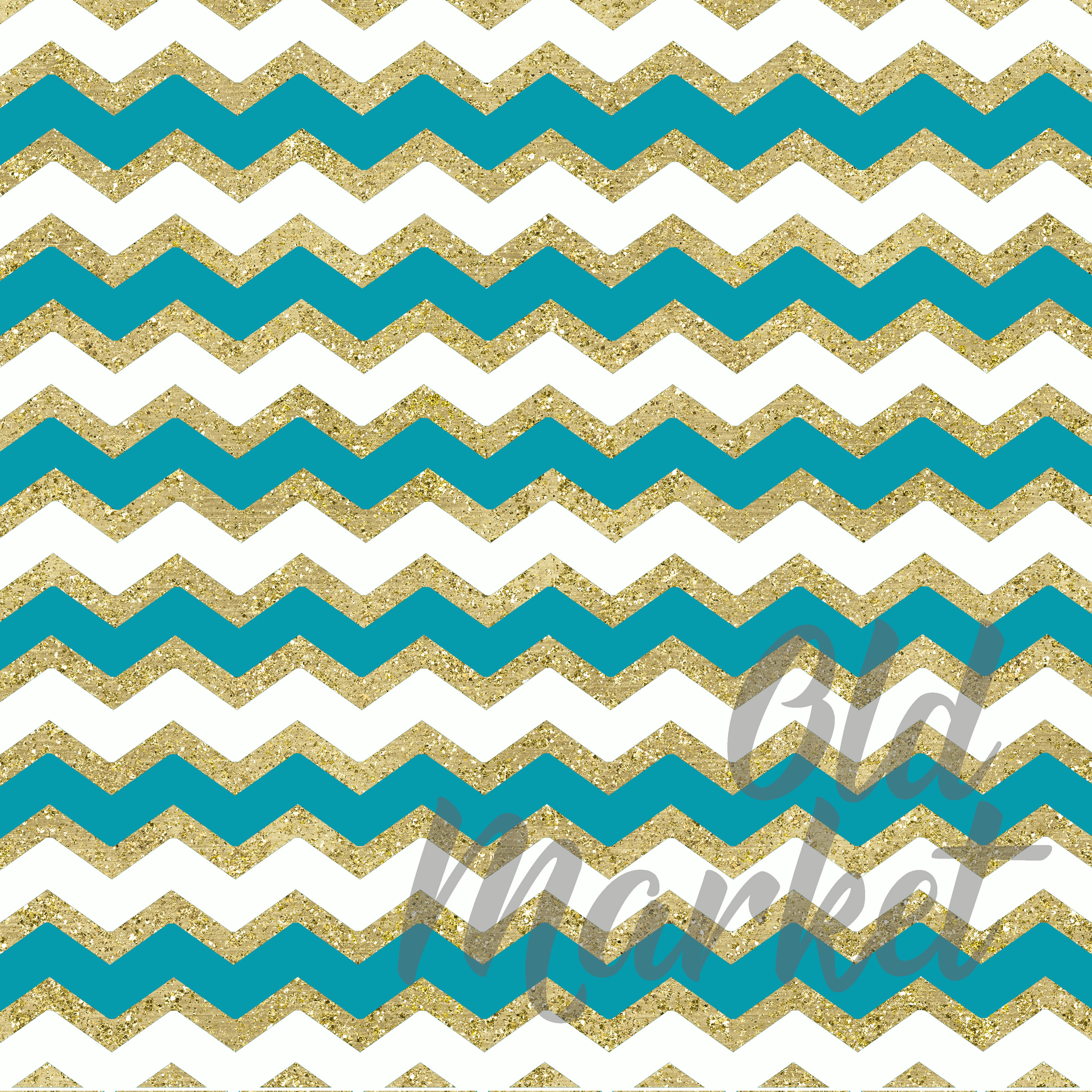 Print on Demand: Blue and Gold Digital Paper Graphic Backgrounds By oldmarketdesigns - Image 3