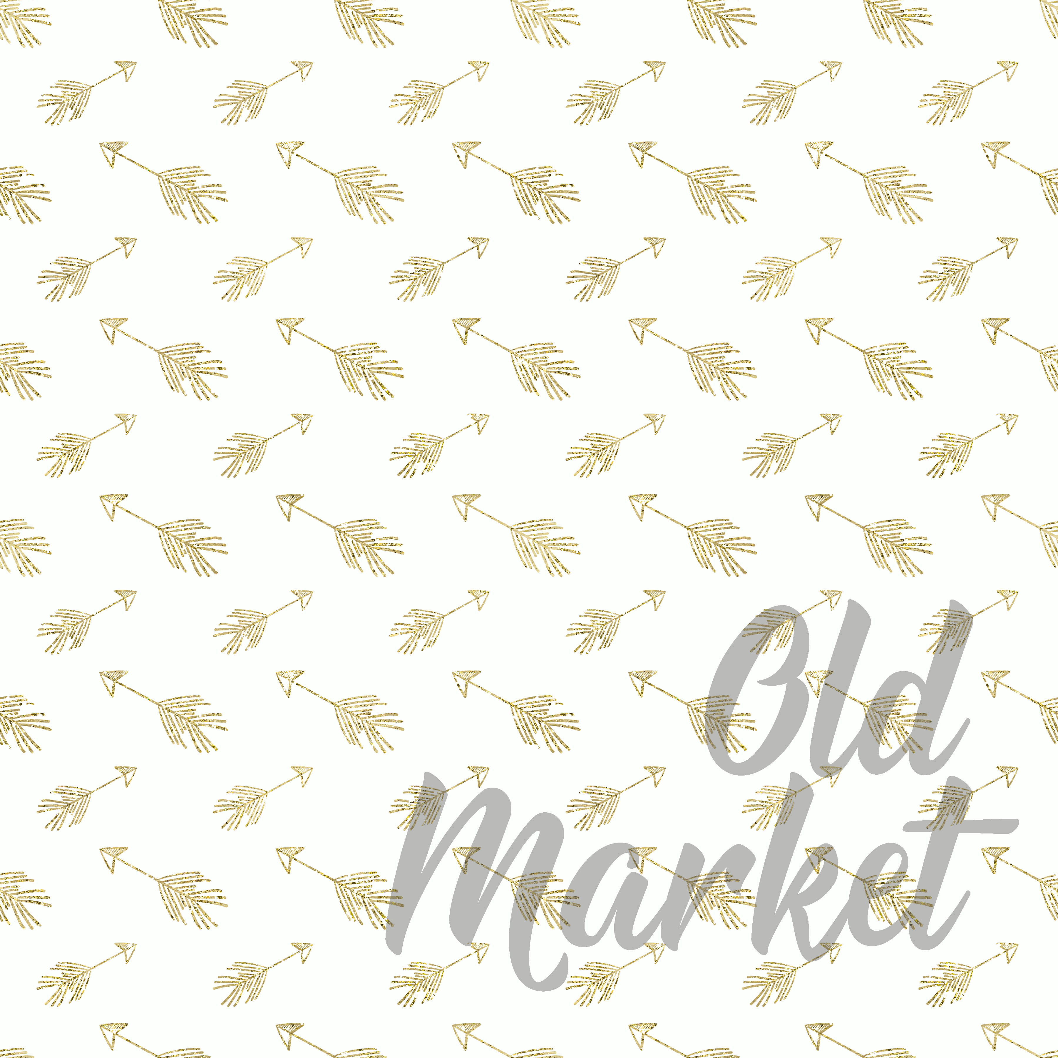 Print on Demand: Blue and Gold Digital Paper Graphic Backgrounds By oldmarketdesigns - Image 5