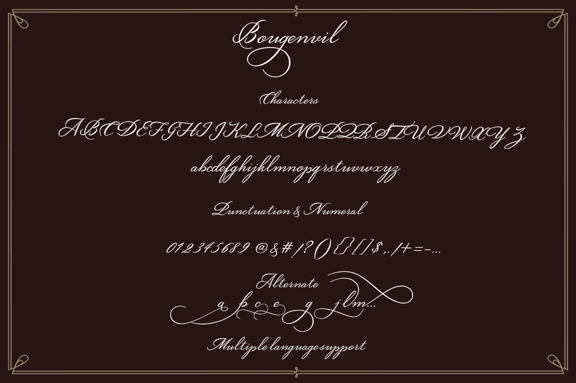 Bougenvil Font By typehill Image 6