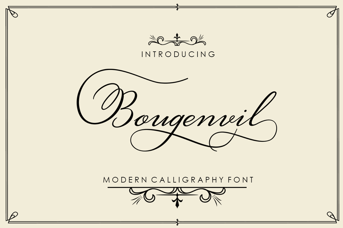 Print on Demand: Bougenvil Script & Handwritten Font By typehill