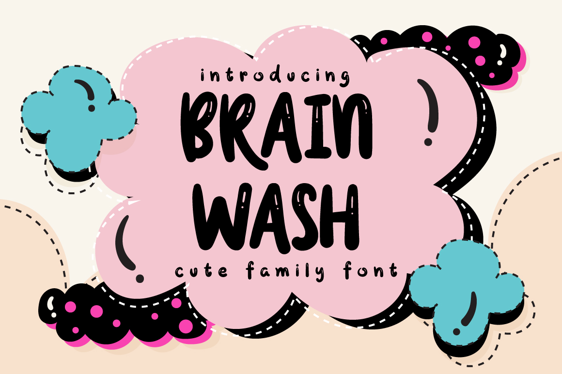 Print on Demand: Brain Wash Display Font By Caoca Studios