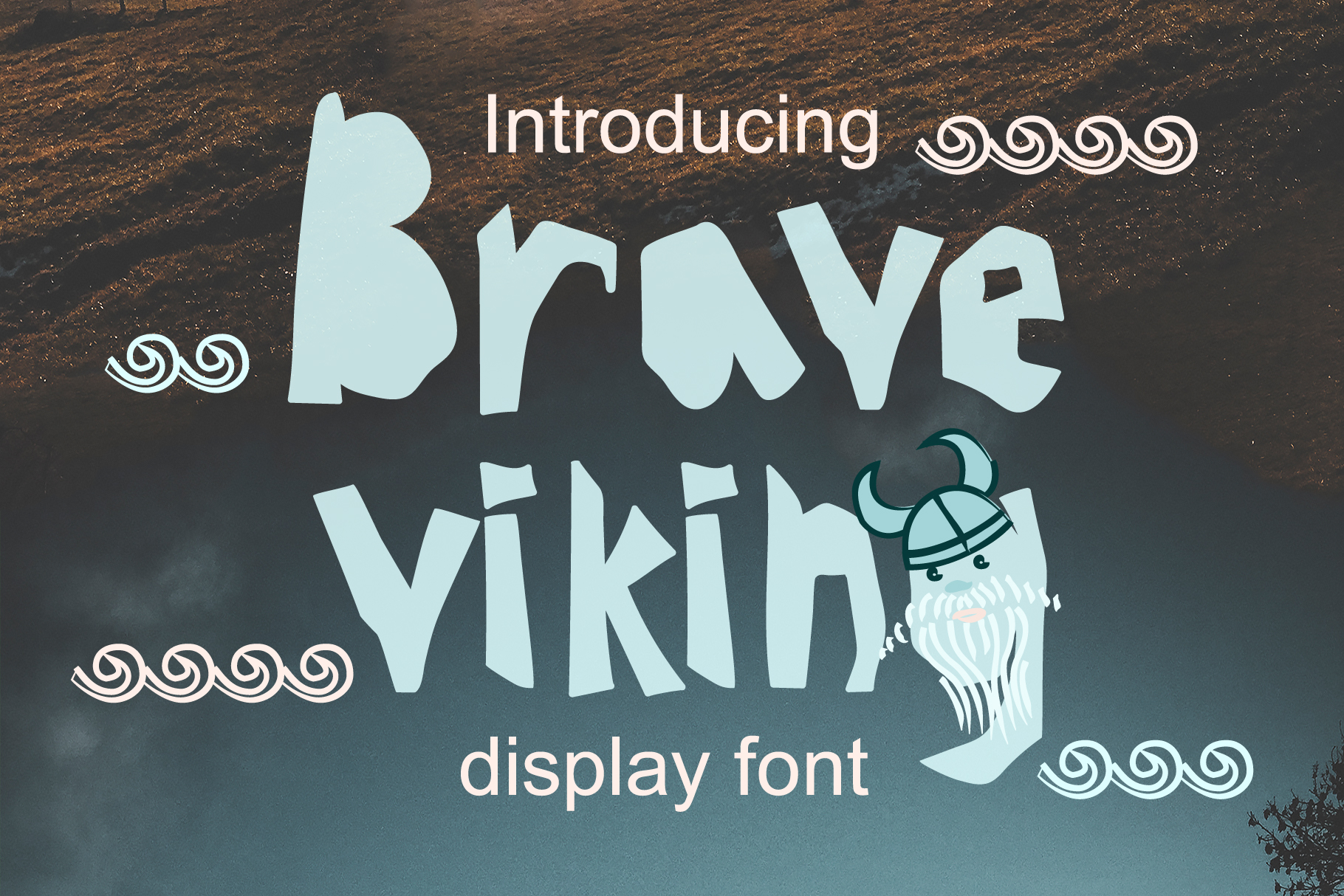 Print on Demand: Brave Viking Display Font By z.zajka
