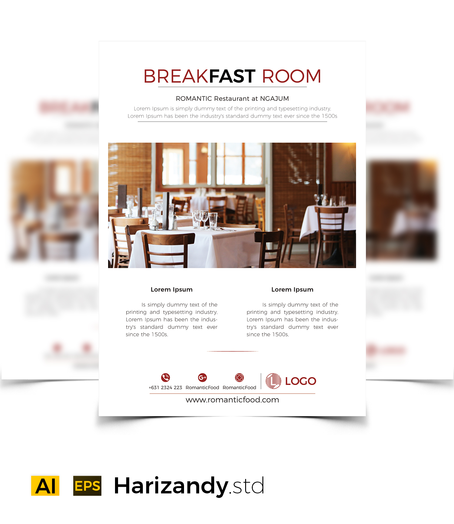 Breakfast Room Graphic Print Templates By harizandy - Image 3