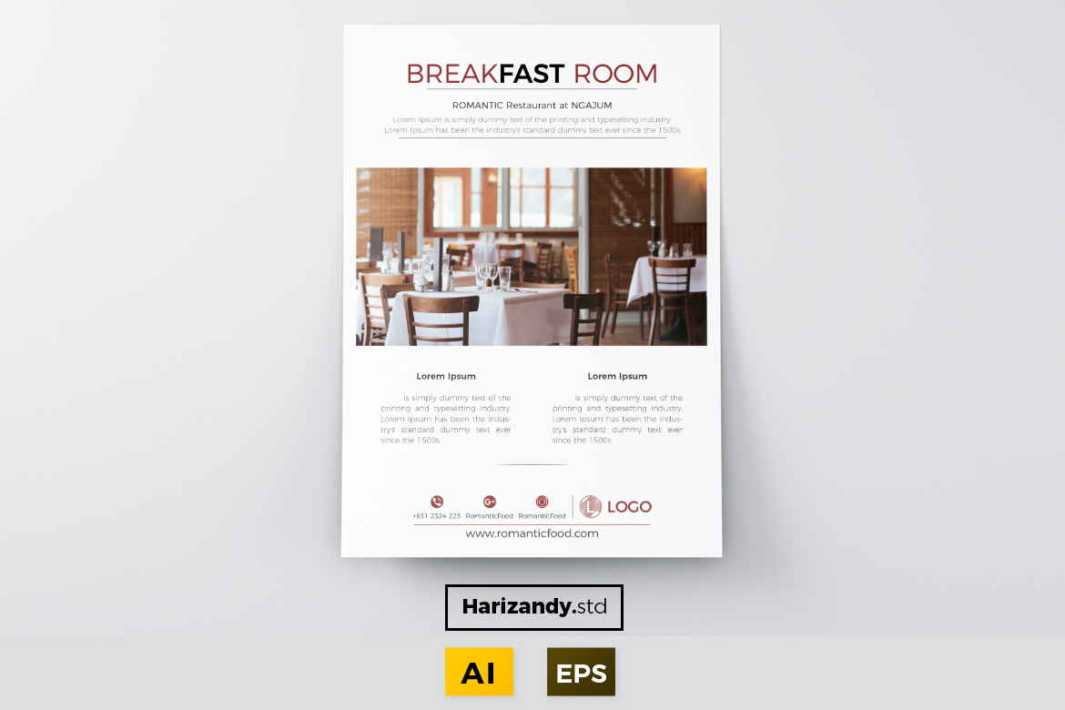 Breakfast Room Graphic Print Templates By harizandy