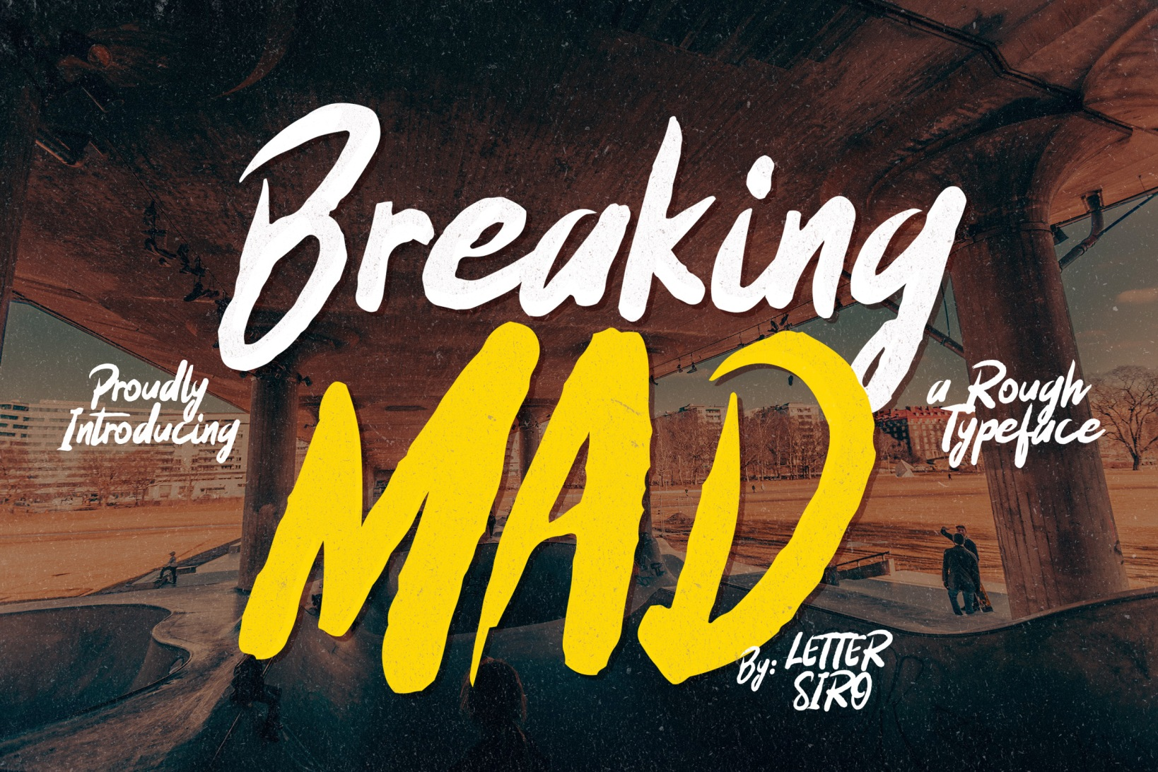 Print on Demand: Breaking Mad Display Font By Lettersiro Co.