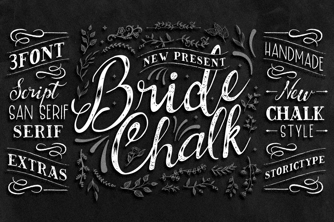 Print on Demand: BrideChalk Script & Handwritten Font By storictype