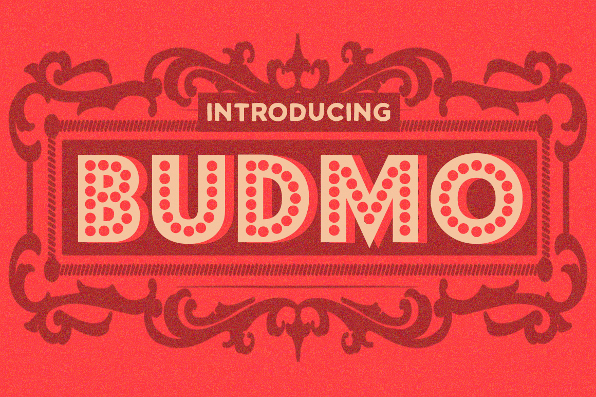 Print on Demand: Budmo Display Font By Typodermic
