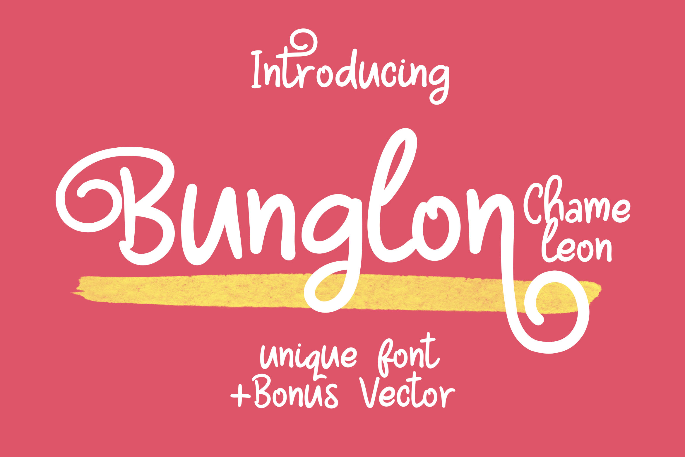 Print on Demand: Bunglon Chameleon Display Font By Lettersiro Co. - Image 1