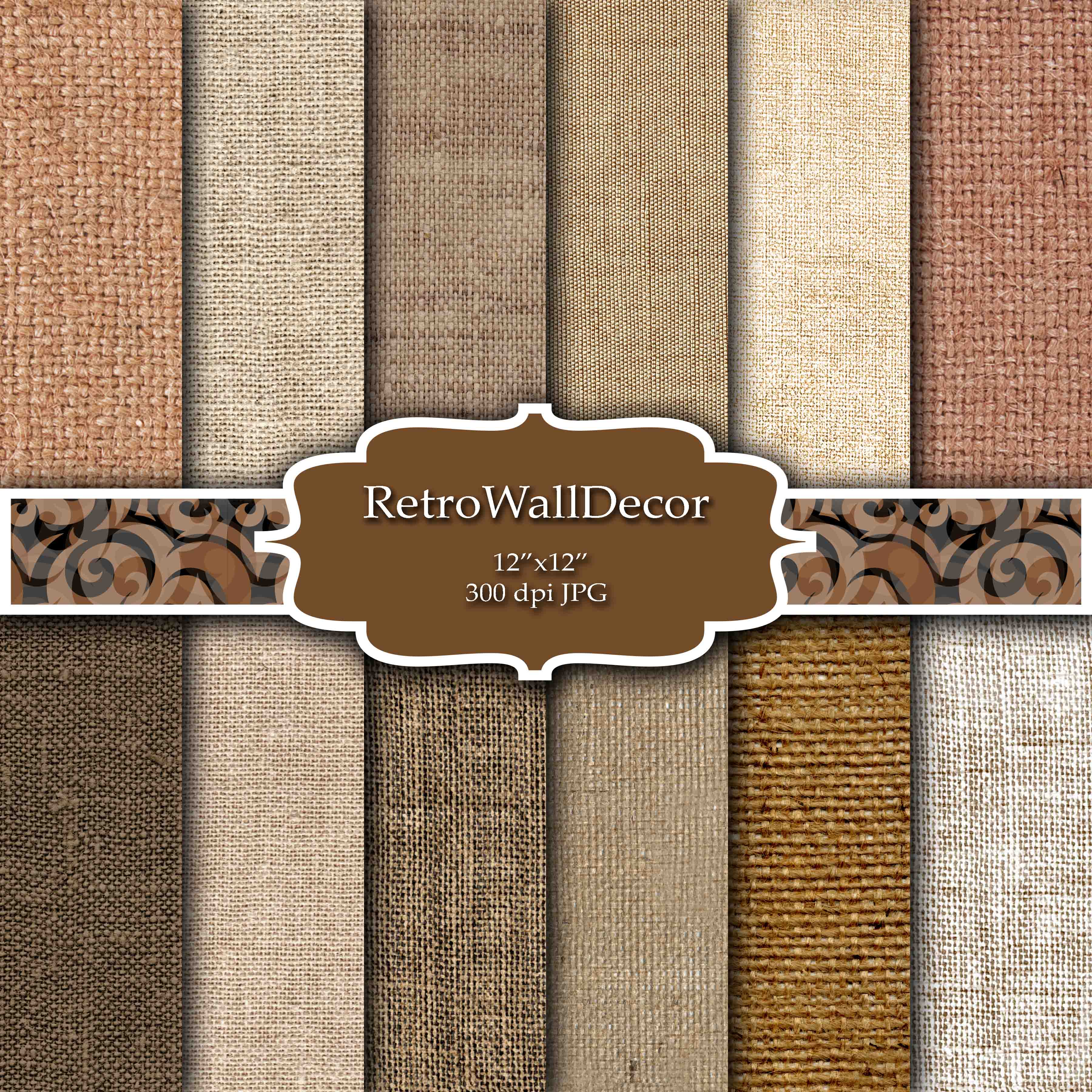 Download Free Burlap Digital Paper Graphic By Retrowalldecor Creative Fabrica for Cricut Explore, Silhouette and other cutting machines.