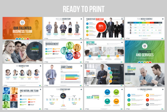 Businessplan Powerpoint Presentation Template Graphic By