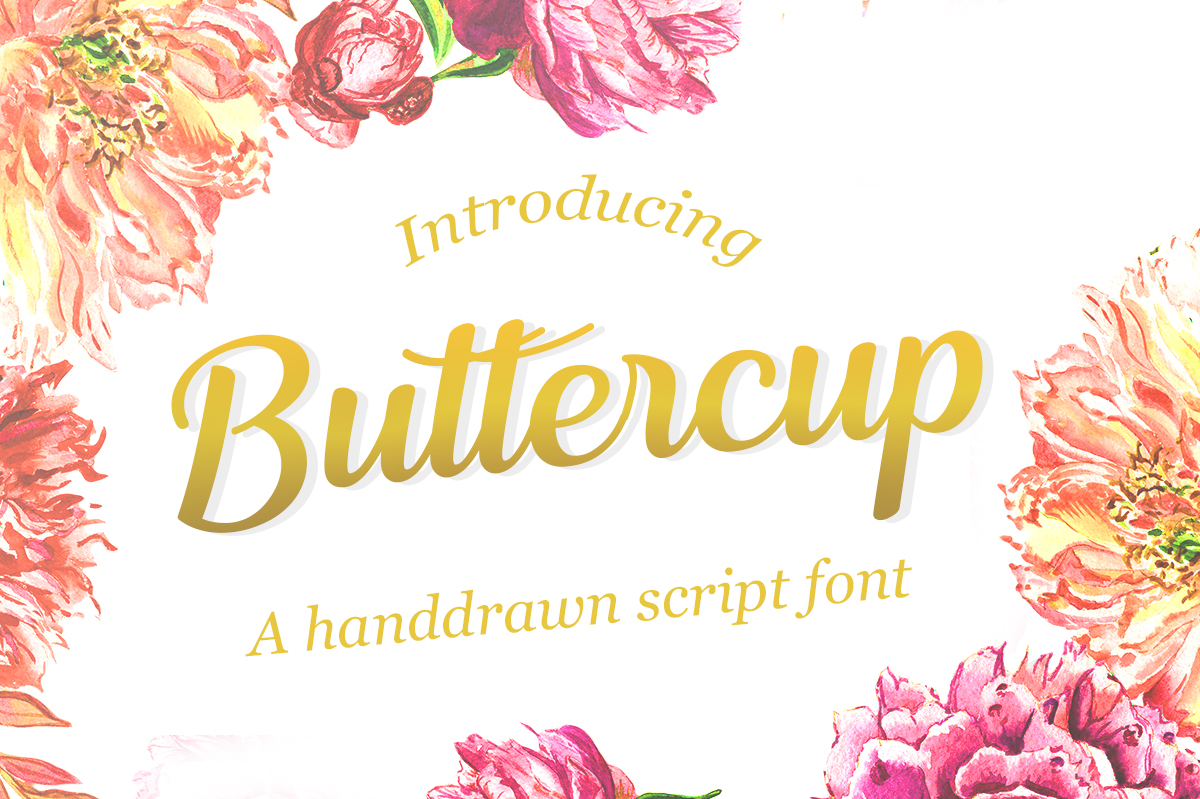Print on Demand: Buttercup Script & Handwritten Font By Silhouette America, Inc.