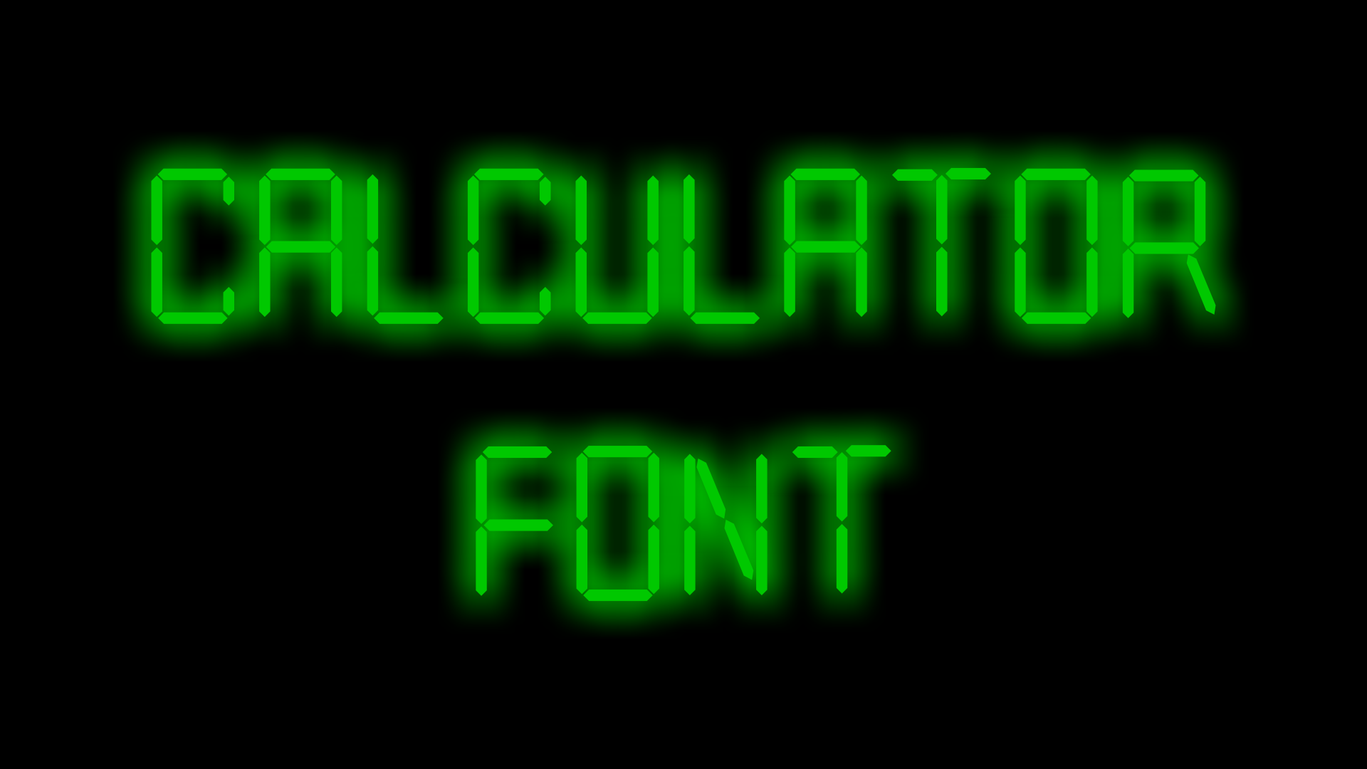 Print on Demand: Calculator Decorative Font By The Polish Apple