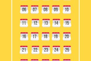 Calendar Number Graphic By herbanuts