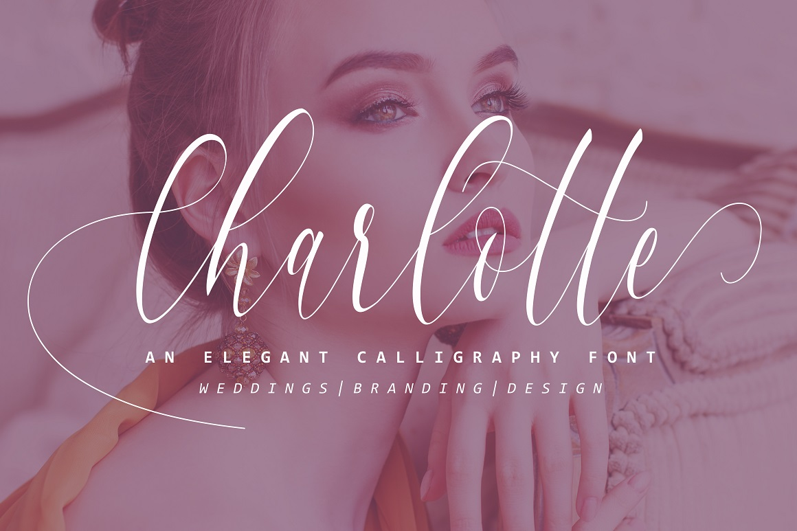 Print on Demand: Charlotte Calligraphy Script & Handwritten Font By aldedesign