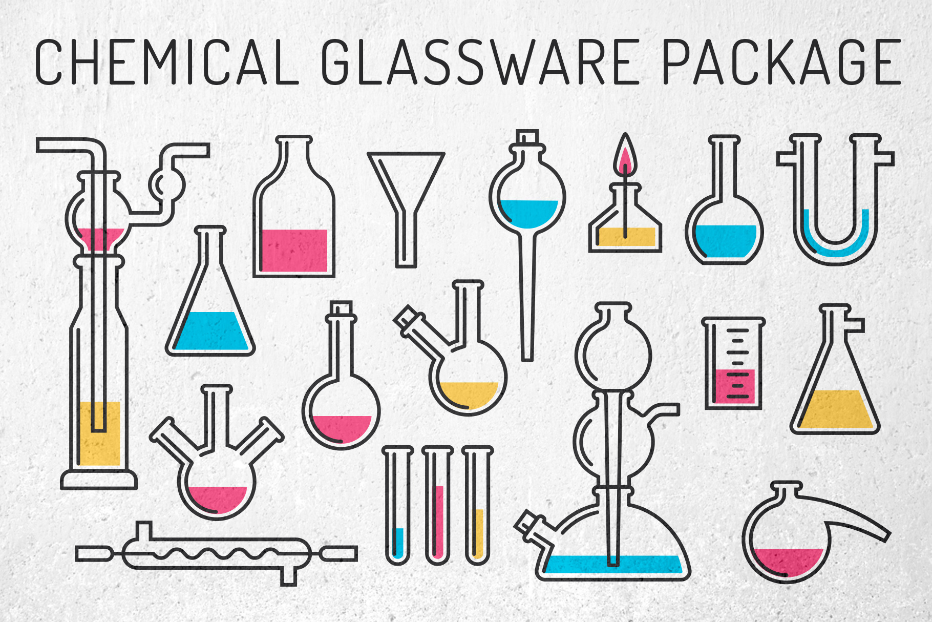 Chemical Glassware Package Graphic By Agor2012