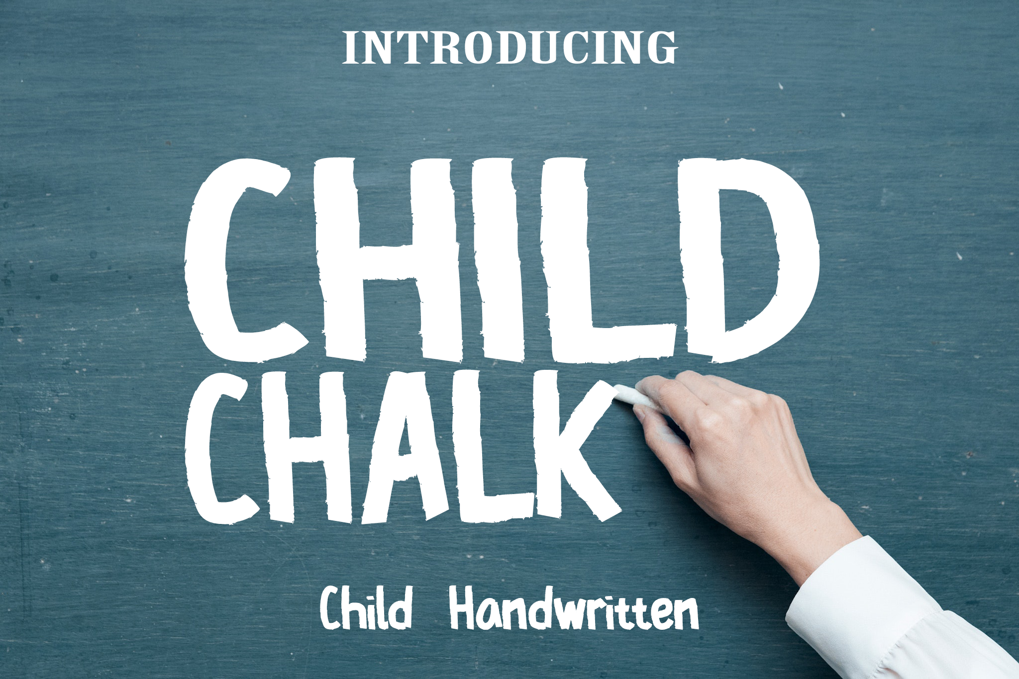 Print on Demand: Child Chalk Script & Handwritten Font By KomsaynCreative