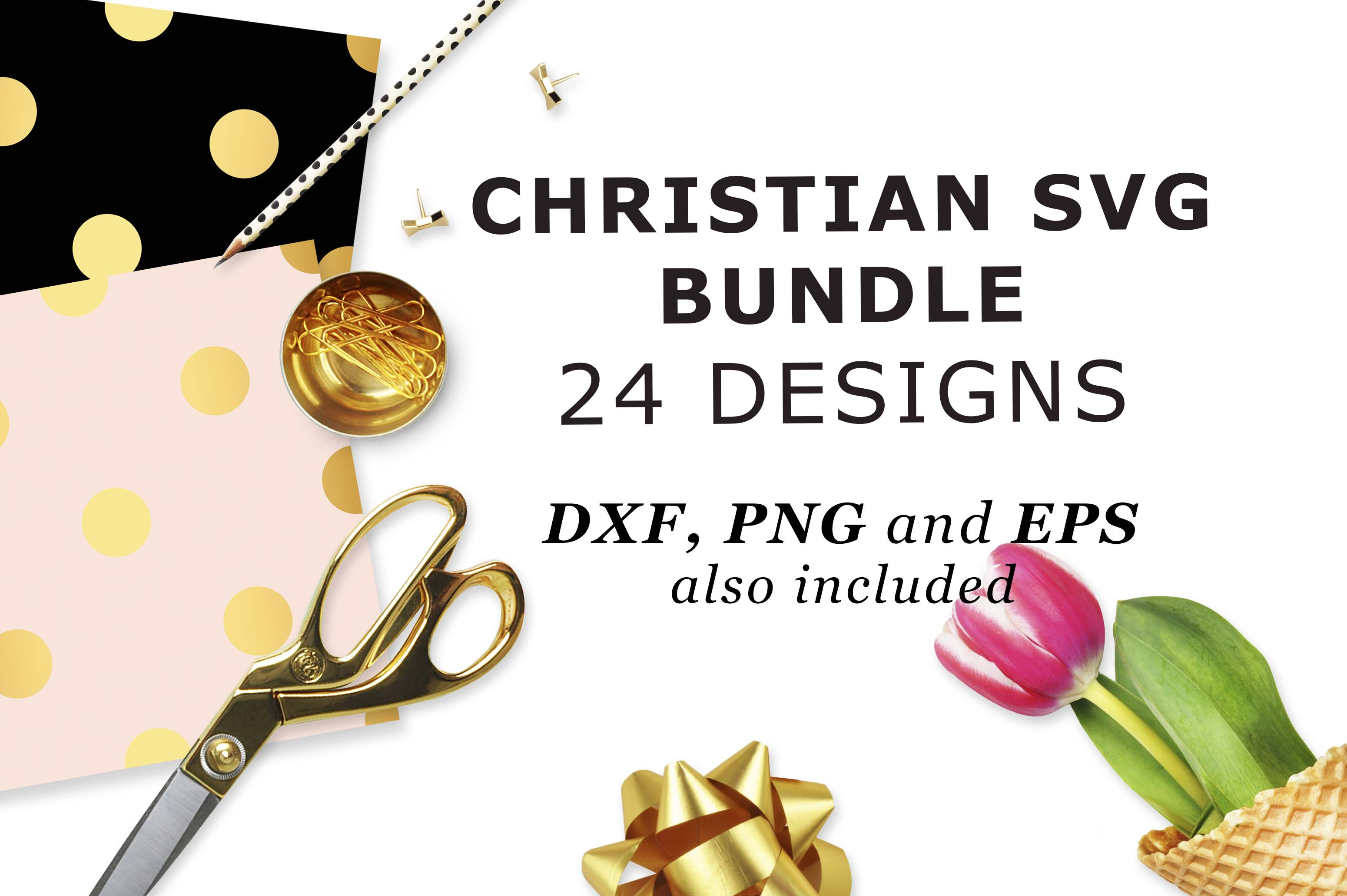 Download Free Christian Bundle Cutting Files Graphic By Theblackcatprints for Cricut Explore, Silhouette and other cutting machines.