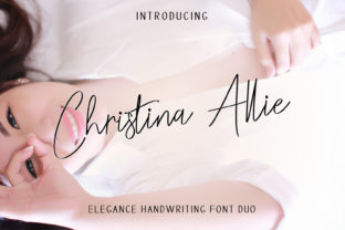 Print on Demand: Christina Allie Script & Handwritten Font By zulkhairilettering