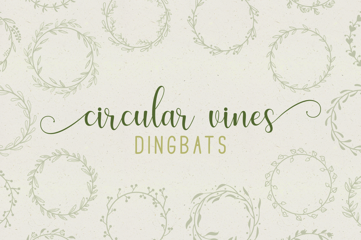 Print on Demand: Circular Vines Dingbat Dingbats Font By Creative Fabrica Fonts