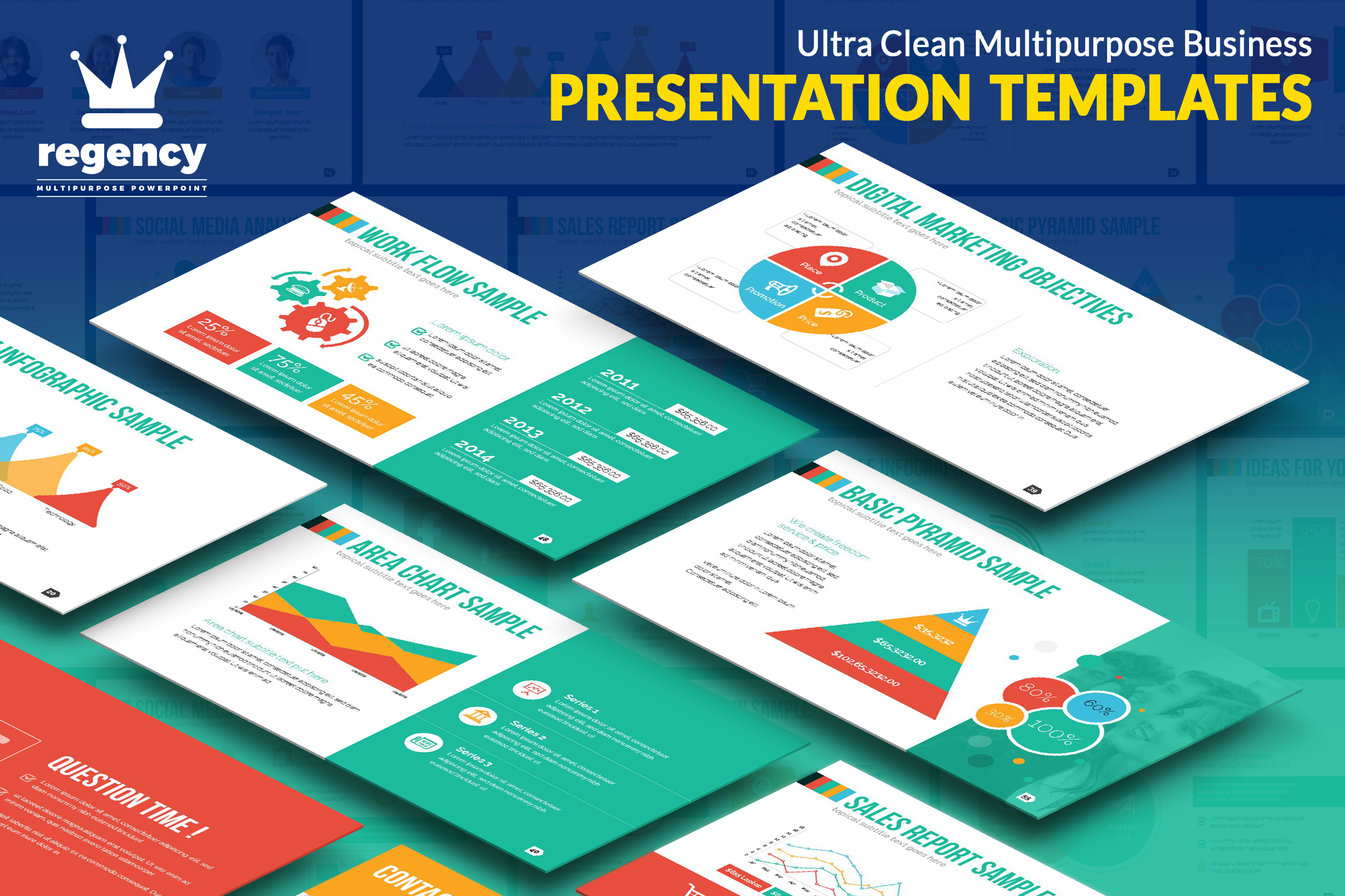 Print on Demand: Clean Business Presentation Graphic Presentation Templates By ContestDesign