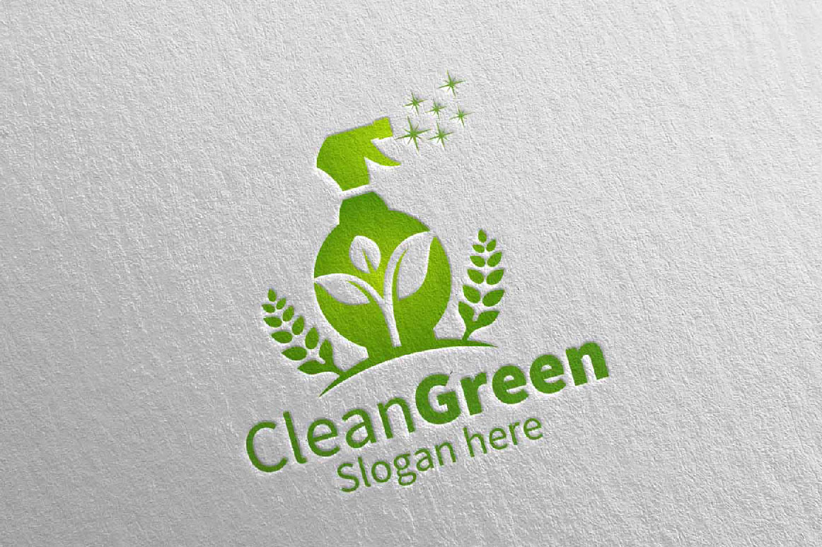 Download Free Cleaning Service Vector Logo Design Graphic By Denayunecf for Cricut Explore, Silhouette and other cutting machines.