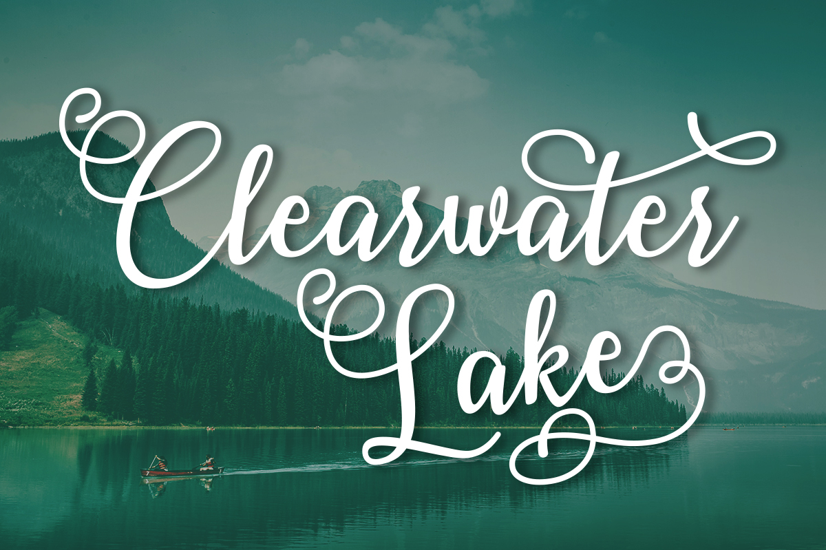 Print on Demand: Clearwater Lake Script & Handwritten Font By Silhouette America, Inc.
