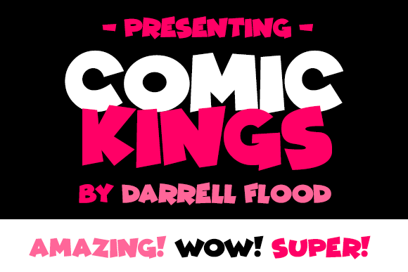 Print on Demand: Comic Kings Display Font By Dadiomouse