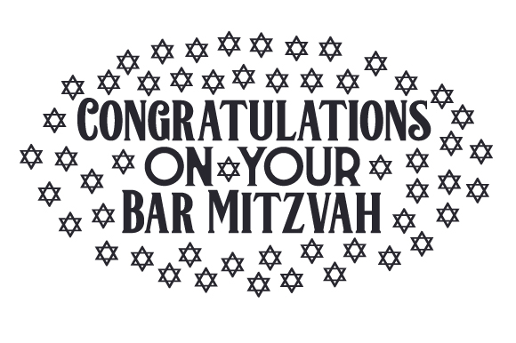 Download Free Congratulations On Your Bar Mitzvah Svg Cut File By Creative for Cricut Explore, Silhouette and other cutting machines.