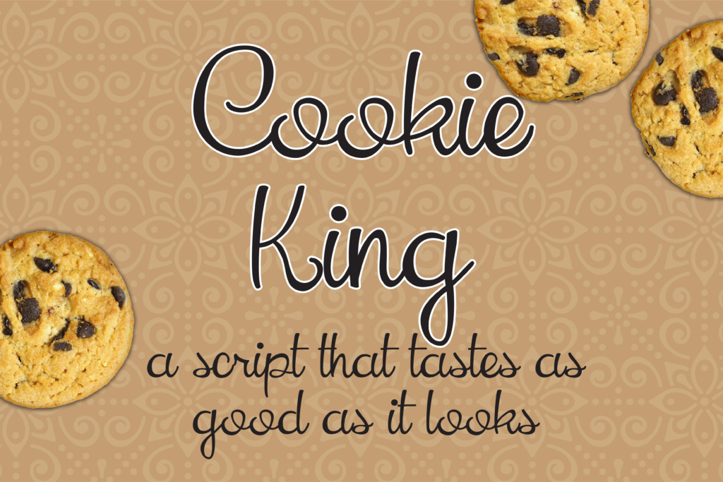 Download Free Cookie King Font By Illustration Ink Creative Fabrica for Cricut Explore, Silhouette and other cutting machines.